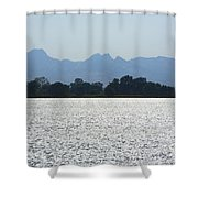 Sutter Buttes And Flooded Rice Field Shower Curtain