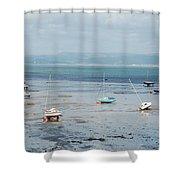 Swansea Bay Sailboats Shower Curtain