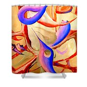Swaying In Harmony 2 Shower Curtain