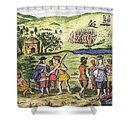 Swedish Colonists, 1702 Shower Curtain