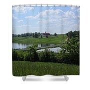 Sweet Alabama Barn Shower Curtain
