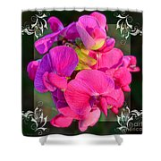 Sweet Pea Pop Out Square Shower Curtain