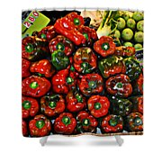 Sweet Red Peppers Shower Curtain