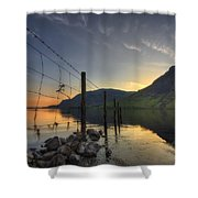 Sweet Wave Of Sunset Shower Curtain