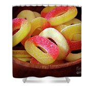 Sweeter Candys Shower Curtain by Carlos Caetano