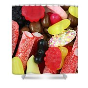 Sweets And Candy Mix Shower Curtain