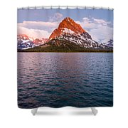 Swiftcurrent Lake At Dawn Shower Curtain