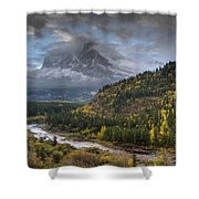 Swiftcurrent River Overlook Shower Curtain