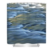 Swiftly Rushing Water In A Stream Shower Curtain