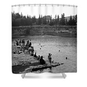 Swiming Time 1945 Shower Curtain