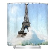 Swimming Pleasure In Paris Shower Curtain