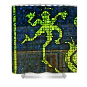 Swimming Pool Tiles Shower Curtain