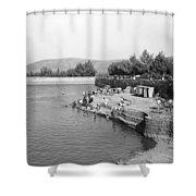 Swimming Resort  Shower Curtain