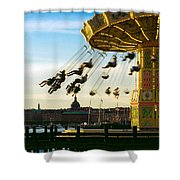 Swings At Sunset Shower Curtain