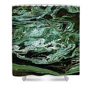 Swirling Algae Shower Curtain