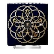 Swirly Brooch Shower Curtain