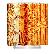 Swirly Embossed Gold Shower Curtain