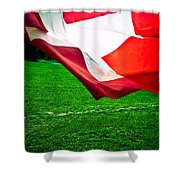 Swiss Flag Shower Curtain
