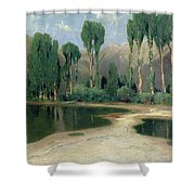 Swiss Landscape Shower Curtain