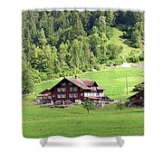 Swiss Village In The Alps Shower Curtain