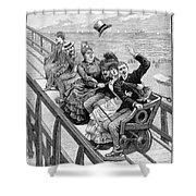 Switchback Railway, 1886 Shower Curtain