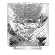 Switzerland: Convent, 1843 Shower Curtain