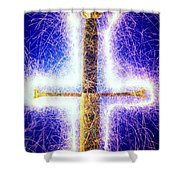 Sword With Sparks Shower Curtain