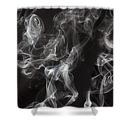 Swriling Smoke  Shower Curtain