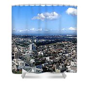 Sydney - Aerial View Panorama Shower Curtain