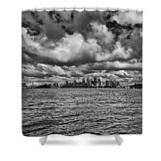 Sydney-black And White Shower Curtain