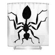 Symbol: Ant Shower Curtain