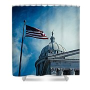 Symbol Of Freedom Shower Curtain by Toni Hopper