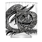 Symbol Of The Dragon Shower Curtain