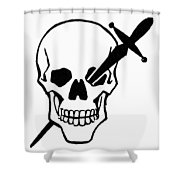 Symbol: Skull & Dagger Shower Curtain