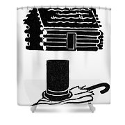 Symbols: Abe Lincoln Shower Curtain