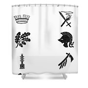 Symbols: Victory And War Shower Curtain by Granger