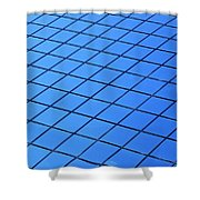 Symmetrical Pattern Of Blue Squares Shower Curtain
