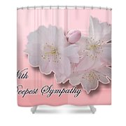 Sympathy - Cherry Blossoms Shower Curtain