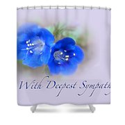 Sympathy Card - Blue Wildflower Shower Curtain