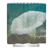 Sympathy Greeting Card - Wild Morning Glory - Bindweed Shower Curtain