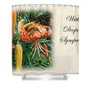 Sympathy Greeting Card - Wildflower Turk's Cap Lily Shower Curtain