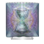 Synthesphered Grail On Caducus Blazed Tapestrys Shower Curtain