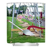 Syracuse Chilled Plow Co. Shower Curtain