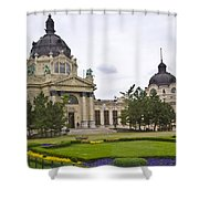 Szechenyli Baths - Budapest Shower Curtain