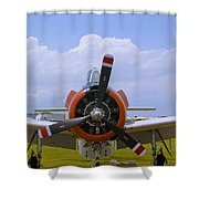 T-28 Nose Shower Curtain
