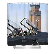 T-38 Talon Pilots Make Their Final Shower Curtain