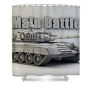 T-80 Main Battle Tank Shower Curtain