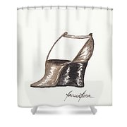 T-strap Wedge Shower Curtain