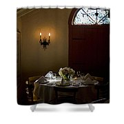 Table In Elegance Shower Curtain