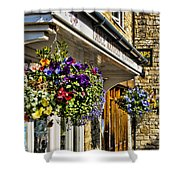 Table Manners Store -  Broadway England Shower Curtain